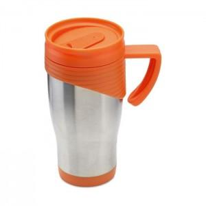 Nerezový termohrnek, 455ml, oranžová