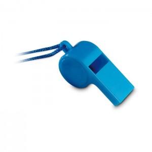 Plastová píšťalka se šňůrkou, modrá