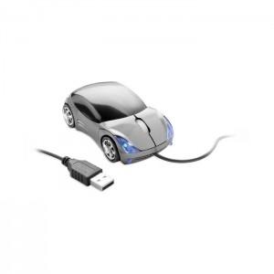 Optická myš ve tvaru auta, titanová