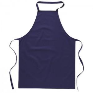 Kuchyňská bavlněná zástěra, modrá