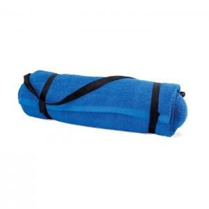 Bavlněné lehátko s polštářem, modrá