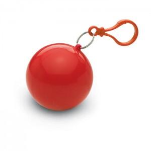Transparentní pláštěnka poncho v pouzdře, červená