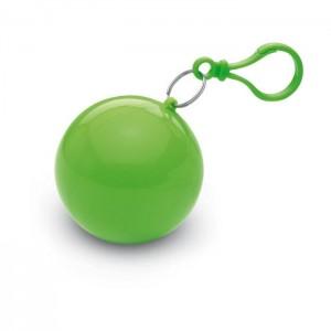 Transparentní pláštěnka poncho v pouzdře, zelená