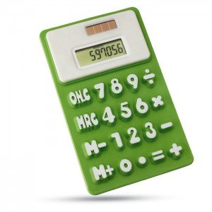 Ohebná kalkulačka, světle zelená