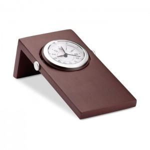 Dřevěné analogové stolní hodiny