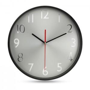 Velké nástěnné hodiny, černá