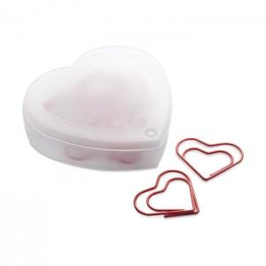 Kancelářské spony ve tvaru srdce - 10 ks