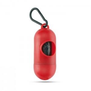 Zásobník s 10 PE sáčky, červená