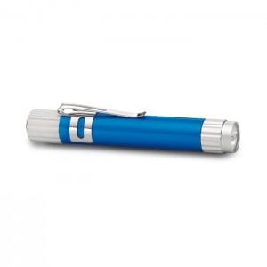 Hliníková LED svítilna, modrá