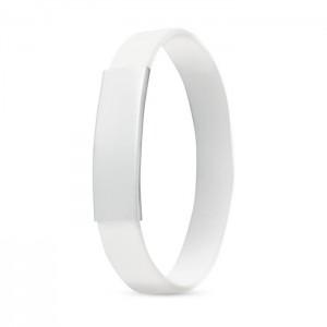 Silikonový náramek, bílá