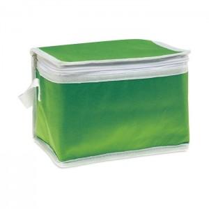 Termotaška na 6 plechovek , zelená
