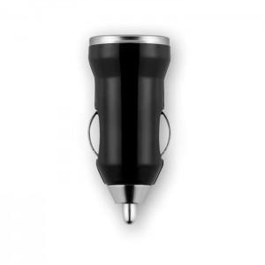 USB nabíječka do auta, černá