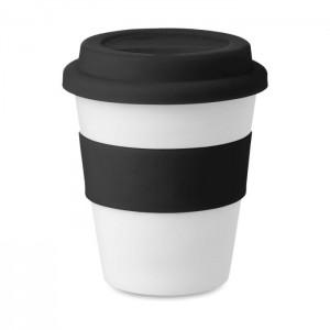 Plastový pohárek s víčkem 0,35 l, černá