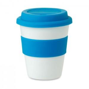 Plastový pohárek s víčkem 0,35 l, modrá