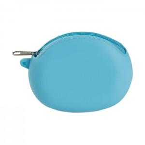 Silikonová peněženka, modrá