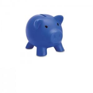 Plastová pokladnička - prasátko, modrá