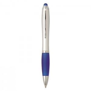 Plastová propiska se stylusem, modrá