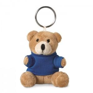 Klíčenka s plyšovým medvídkem, modrá