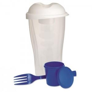 Plastový salátový šejkr 3 ks, modrá