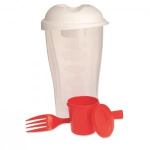 Plastový salátový šejkr 3 ks, červená