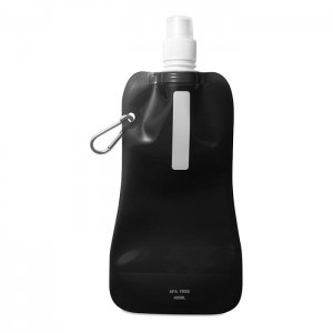 Skládací láhev na vodu, černá