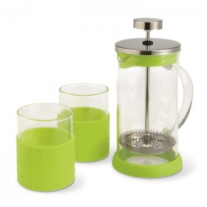 Coffee press kávovar, světle zelená