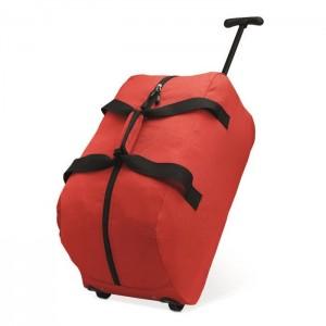 Cestovní taška na kolečkách, červená