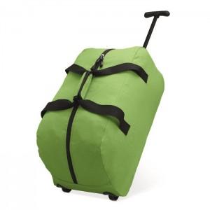 Cestovní taška na kolečkách, světle zelená