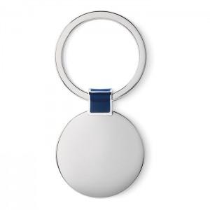 Oválná kovová klíčenka, královksá modrá
