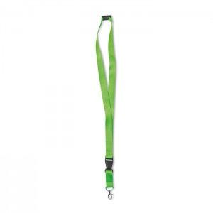 Šňůrka na krk s karabinkou, světle zelená