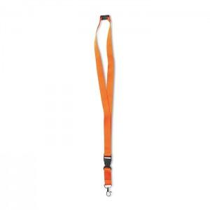 Šňůrka na krk s karabinkou, oranžová