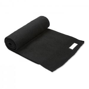 Pletená šála, černá