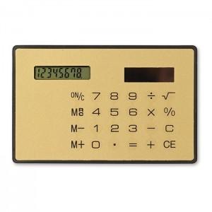 Solární kalkulačka, zlatá