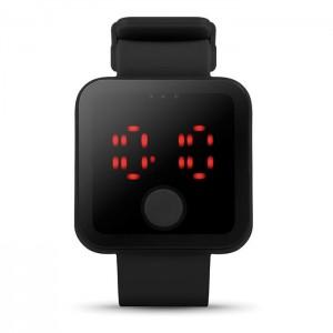 LED hodinky, černá