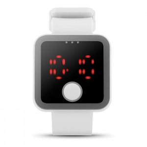 LED hodinky, bílá