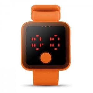 LED hodinky, oranžová