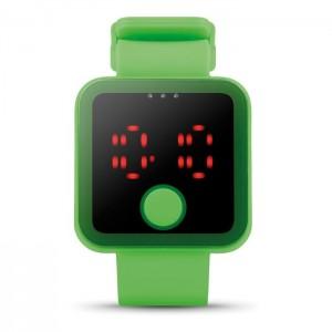 LED hodinky, světle zelená