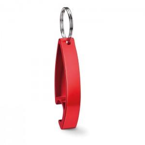 Klíčenka s otvírákem, červená