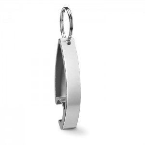 Klíčenka s otvírákem, stříbrná