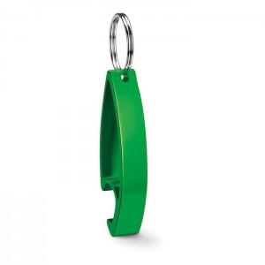 Klíčenka s otvírákem, světle zelená