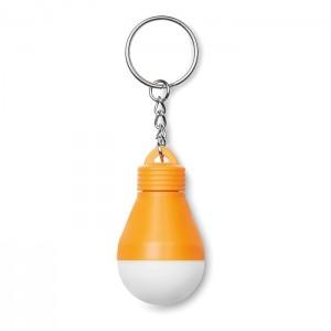 Klíčenka se svítilnou, oranžová