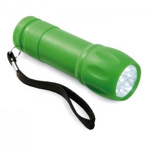 Svítilna s 9 LED diodami, světle zelená