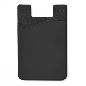 Silikonový držák na karty, černá