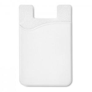 Silikonový držák na karty, bílá