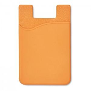Silikonový držák na karty, oranžová