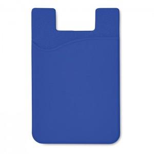 Silikonový držák na karty, královská modrá