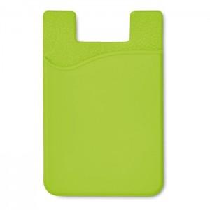 Silikonový držák na karty, světle zelená