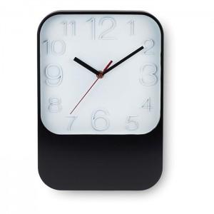 Nástěnné hodiny, černá