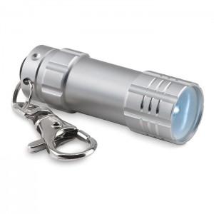 LED svítilna, stříbrná