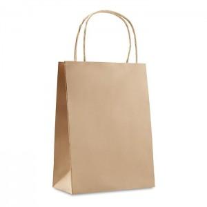 Papírová taška 16x10x23 cm, béžová